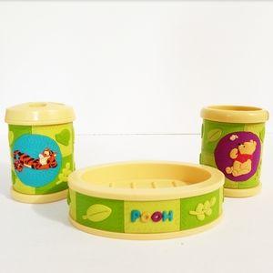• Disney Winnie the Pooh 3 Piece Bathroom Set •